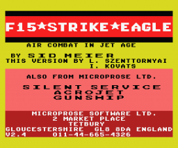 F-15 Strike Eagle (1987, MSX, Microprose)