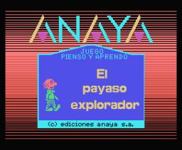 El Payaso Explorador 1 - Identificación de Objetos (1986, MSX, Anaya Multimedia)