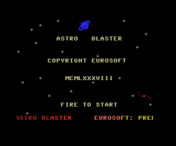 Astro Blaster (1988, MSX, Eurosoft)