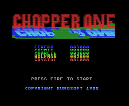 Chopper One (1988, MSX, Eurosoft)