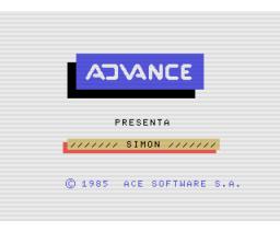 Simón (1985, MSX, Ace Software S.A.)