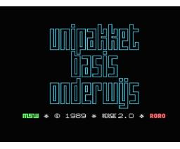 Unipakket Basis Onderwijs - Computer 1 (1989, MSX2, MSW Master Software)
