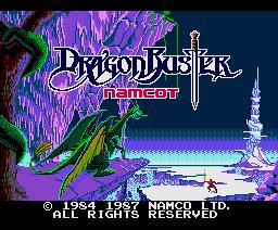 Dragon Buster (1987, MSX2, NAMCO)