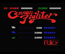Cannon Fighter (1984, MSX, Policy)