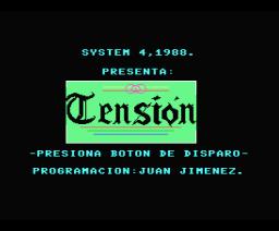 Tensión (1988, MSX, SPE)