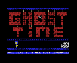 Ghost Time (1989, MSX, M&E Soft)