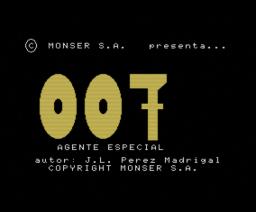 007 Agente Especial (1985, MSX, Monser)