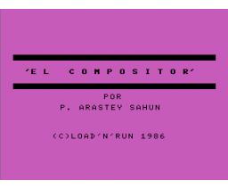 El compositor (1986, MSX, P. Arastey Sahun)