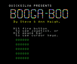 Booga-Boo (The Flea) (1985, MSX, Indescomp)