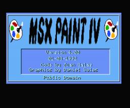 MSX Paint IV (1992, MSX2, Juan Salas)