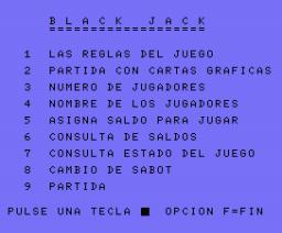 Black Jack (1985, MSX, DIMensionNEW)