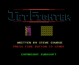Jet Fighter (1988, MSX, Eurosoft)