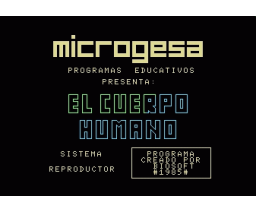 El cuerpo Humano: Sistema Reproductor (1985, MSX, Biosoft)