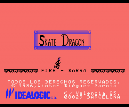 Skate Dragon (1986, MSX, Idealogic)
