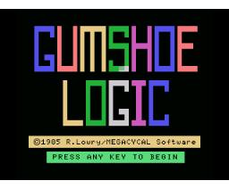 Gumshoe Logic (1985, MSX, MEgaCyCAL)