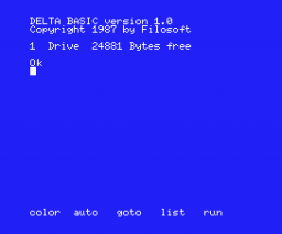 Delta Basic (1987, MSX, Filosoft)