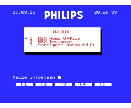 Home Office (1986, MSX2, Philips)
