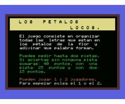Los Pétalos Locos (MSX, Unknown)