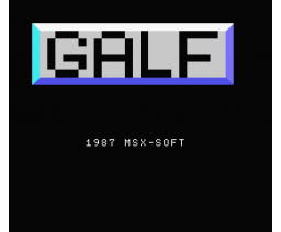 Galf (1987, MSX, Grupo de Trabajo Software (G.T.S.))