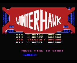 Winterhawk (1988, MSX, Eurosoft)
