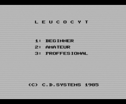 Leucocyt (1985, MSX, CD Systems)