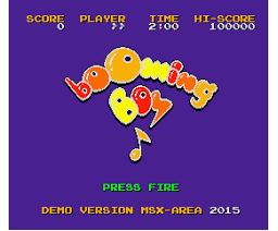 Booming Boy (2015, MSX2, MSX Area)