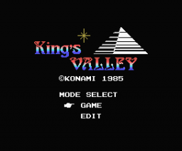 King's Valley (with Edit mode) (1985, MSX, Konami)