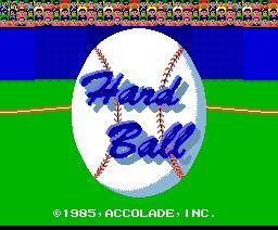 Hard Ball (1987, MSX2, Accolade)