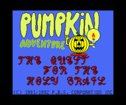Pumpkin Adventure I - The Quest for the Holy Grail (1992, MSX2, Umax)