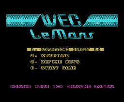 WEC Le Mans (1988, MSX, Imagine)