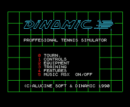 Professional Tennis Simulator (1990, MSX, Alucine Soft)