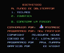 Obliterator (1989, MSX, Melbourne House, New Frontier)