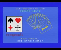 Bridge Spelenderwijs (1986, MSX, Bridge Soft)