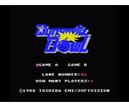 Dynamite Bowl (1988, MSX, Softvision)