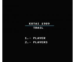 Trail (1989, MSX, Kotai)