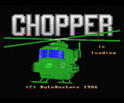 Chopper (1986, MSX, The Bytebusters)