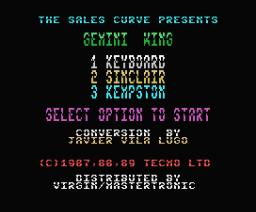Gemini Wing (1989, MSX, Tecmo)