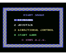 Night Shade (1986, MSX, A.C.G.)