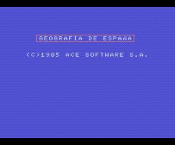 Geografía de España (1985, MSX, Ace Software S.A.)