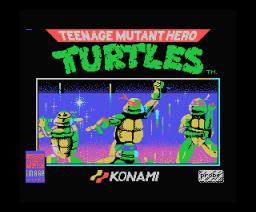 Teenage Mutant Hero Turtles (1990, MSX, Image Works)
