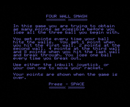 Four Wall Smash (1984, MSX, Spectravideo (SVI))