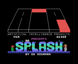 Splash (1986, MSX, Artificial Intelligence Products)