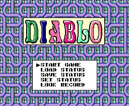 Diablo (1989, MSX2, Brøderbund Japan)