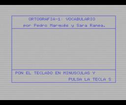 Gramática, palabras (MSX, Mind Games España)