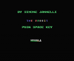 The Rabbit (1986, MSX, Simone Jannelli)