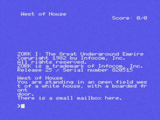 Zork I: The Great Underground Empire (1982, MSX, Infocom