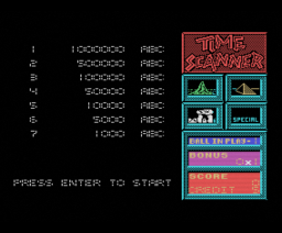 Time Scanner (1989, MSX, Activision)