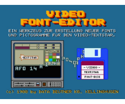 Video-Textstar Fonteditor (1988, MSX2, Data Beutner)