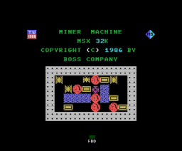 Miner Machine (1986, MSX, Boss Company)