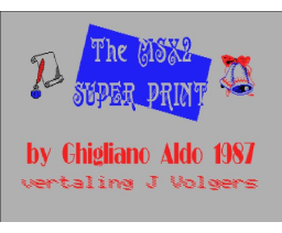 The MSX2 Super Print (1987, MSX2, Ghigliano Aldo)